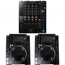 Pioneer DJM-750-K DJ-Mixer + 2x CDJ-2000NXS2 Media-Player