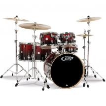 PDP Drums Concept Maple Red-Black Sparkle 5-teiliges Schlagzeugset
