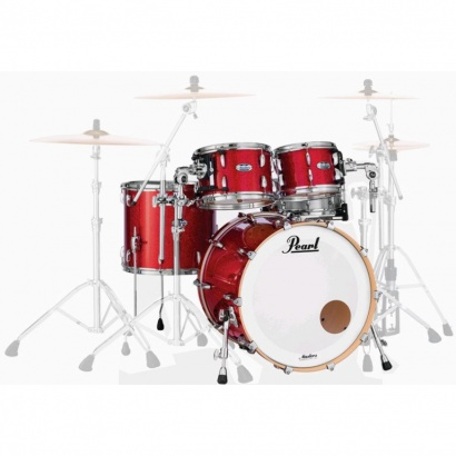 Pearl MCT924XEP Masters Maple 4-teilger Kesselsatz, Inferno Red