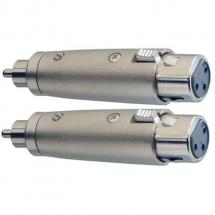 Stagg AC-XFCMH Adapterstecker, XLR female - Cinch male (2 Stk.)