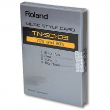 Roland Music Style Card TN-SC1-03 70's & 80's
