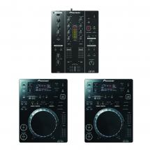Pioneer DJ-Set DJM-350 Mixer und 2x CDJ-350 Media-Player