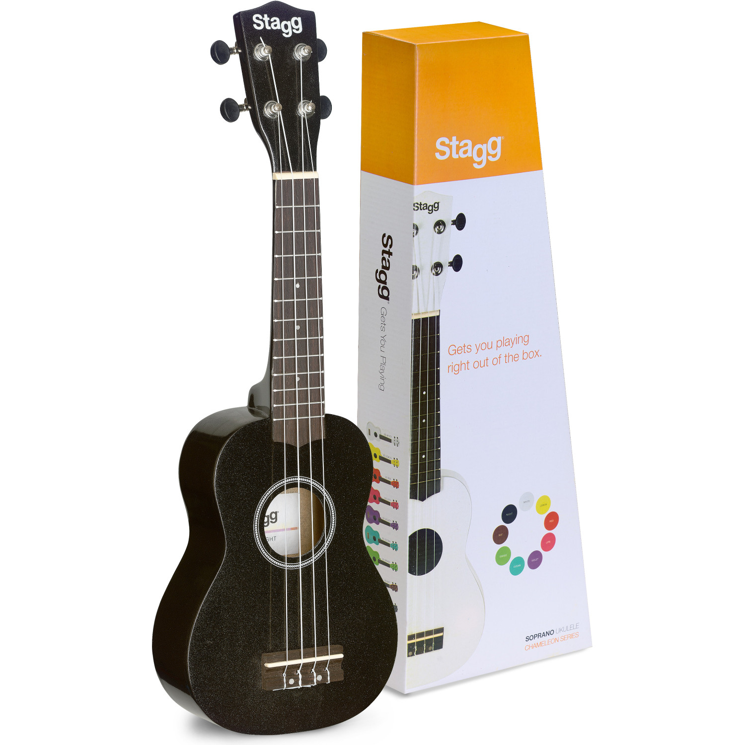 Stagg US NIGHT Sopranukulele mit Gigbag