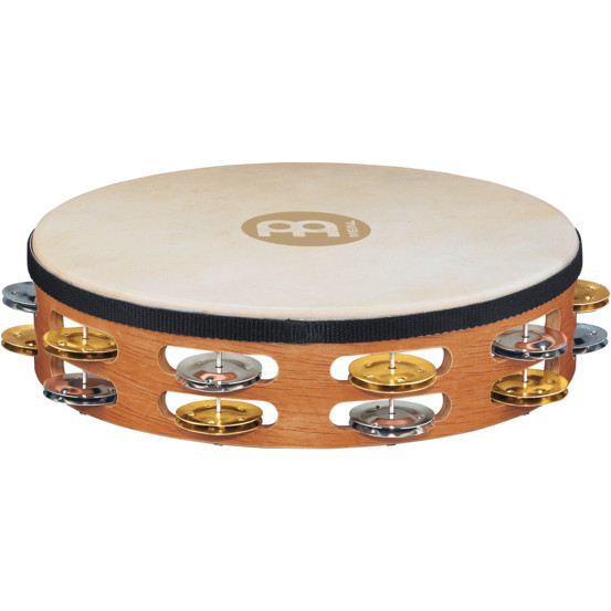 Meinl TAH2M SNT Recording Combo Wood Tambourine 10 Zoll mit Fell