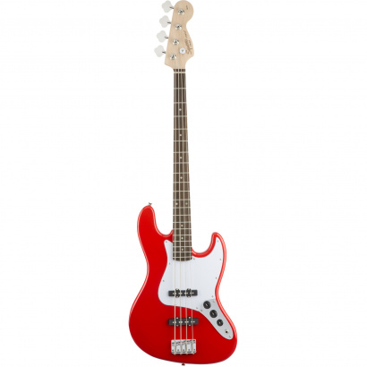 Squier Affinity Jazz Bass, Race Red RW