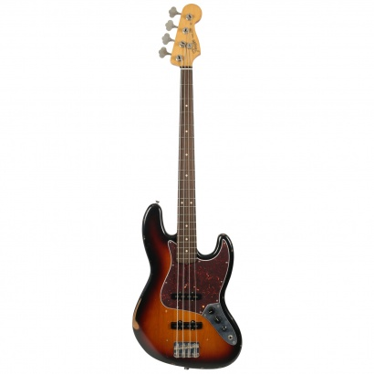 (B-Ware) Fender Road Worn 60s Jazz Bass 3-Colour Sunburst RW