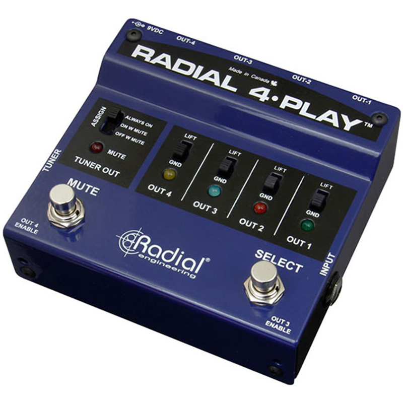Radial 4 Play Multi Output DI Box
