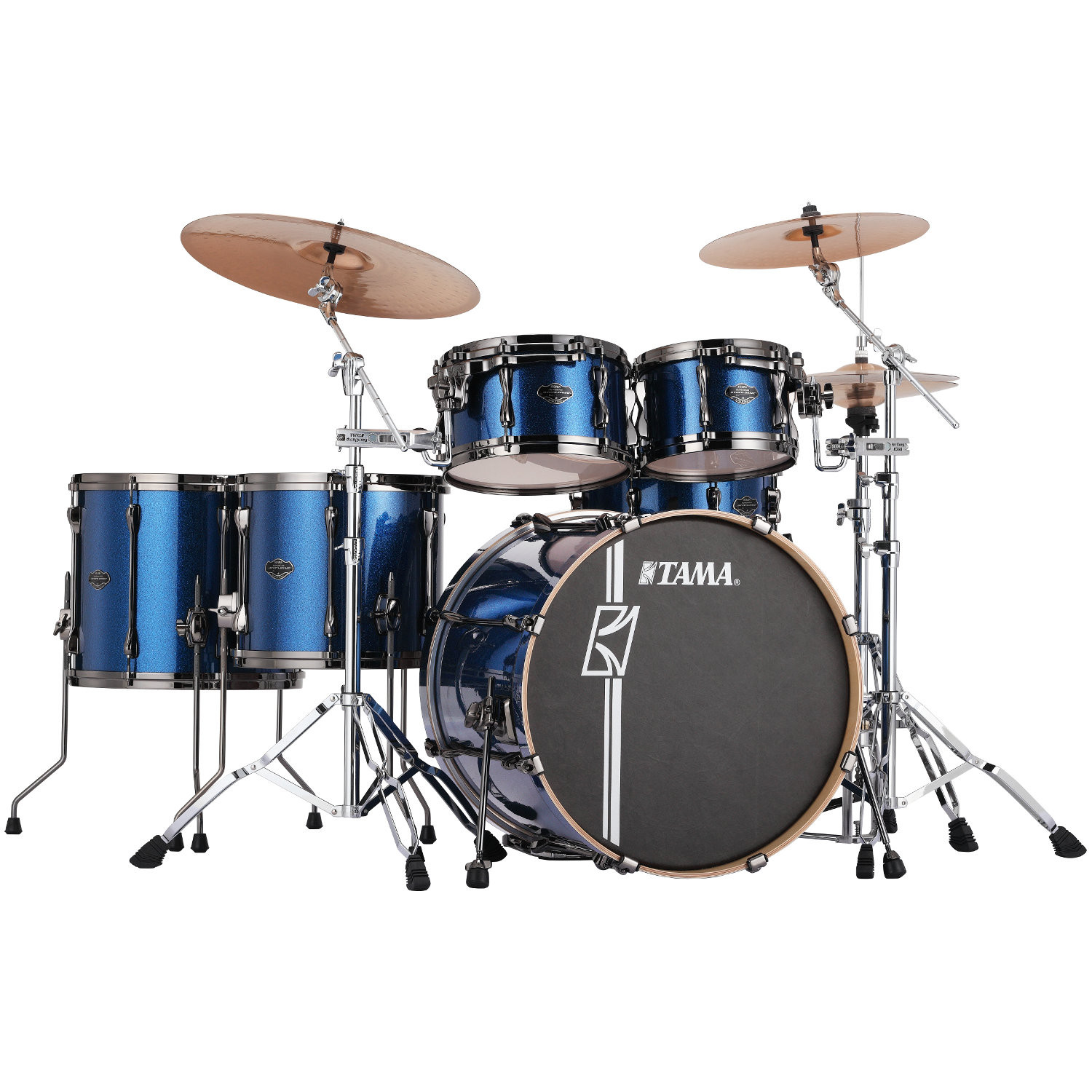 Tama Superstar HD Maple Indigo Sparkle 5 teiliger Kesselsatz