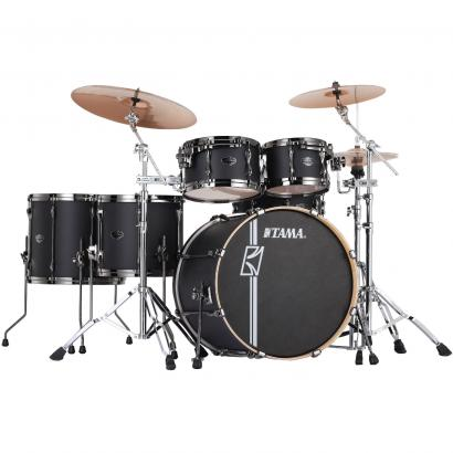 Tama Superstar HD Maple Flat Black 5-teiliger Kesselsatz