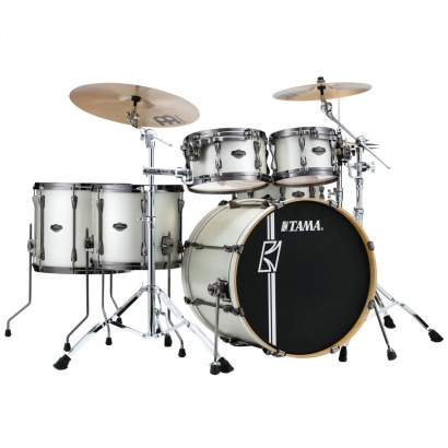 Tama Superstar HD Maple Satin Arctic Pearl 5-teiliger Kesselsatz