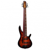 Ibanez SRAS7 Bass Workshop Dragon Eye Burst E-Bass, 7-saitig