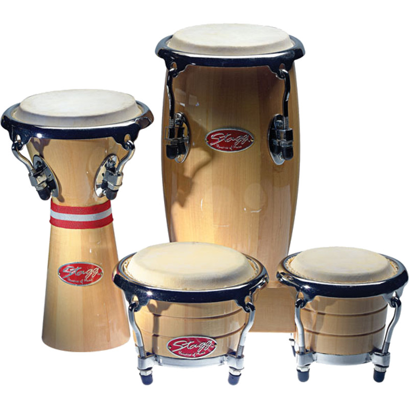 Stagg BCD N SET Mini Percussion Pack, Bongos Conga Djembe