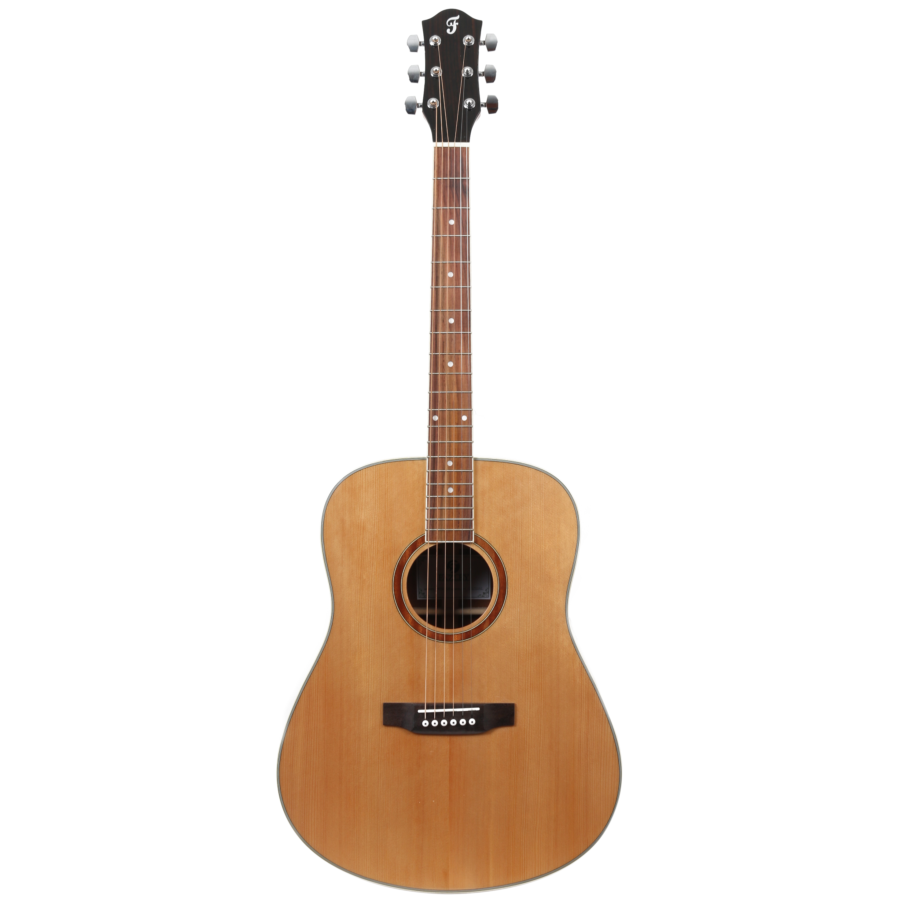 Fazley WST400N solid top steel string acoustic guitar, natural