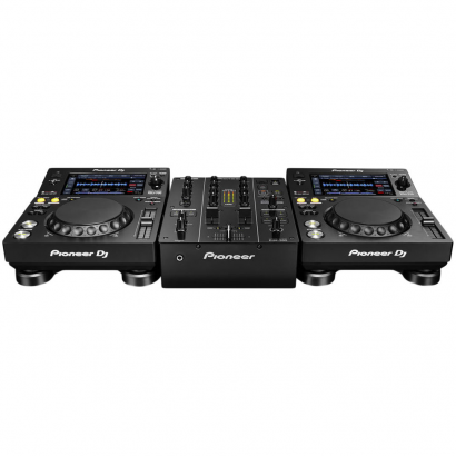 Pioneer DJ-Set mit 2x XDJ-700 Tabletop-Player und 1x DJM-350 Mixer