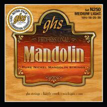 GHS N250 Pure Nickel Mandolin Med Light 10.5-39 Saitensatz