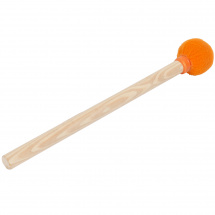 Brasilando surdo beater, wooden, steel, orange tip