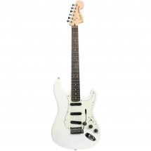 (B-Ware) Squier Deluxe Hot Rails Strat Olympic White RW Olympic White RW
