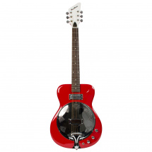 (B-Ware) Eastwood Guitars Airline Folkstar Resonanzgitarre, rot v1
