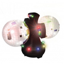 Party FunLights Discokugel, 2 x 4 Zoll