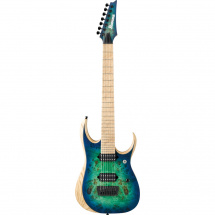 (B-Ware) Ibanez RGDIX7MPB-SBB Iron Label Surreal Blue Burst v1