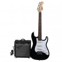 Squier Strat Pack SSS Black E-Gitarrenset
