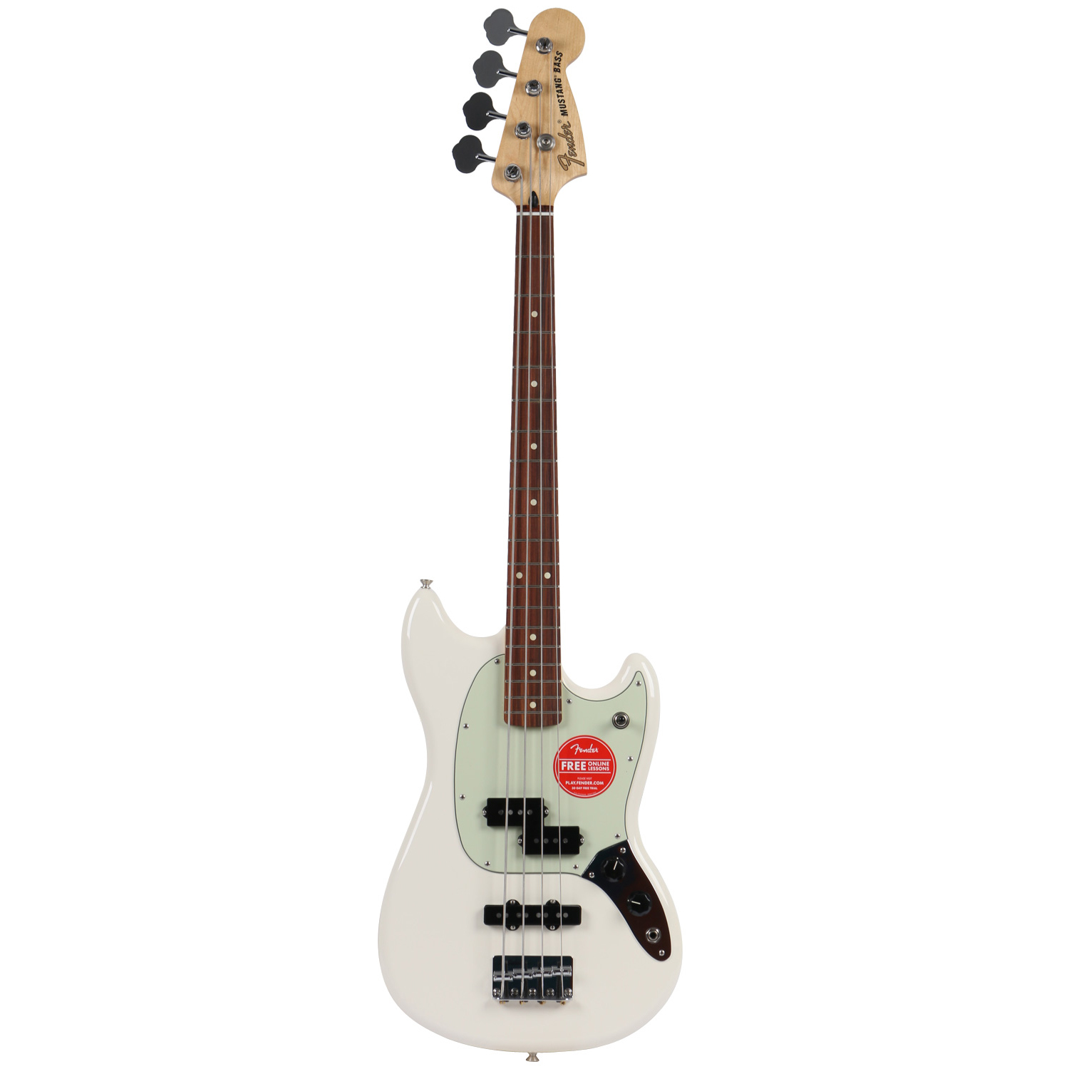 Fender Mustang Bass PJ Olympic White PF