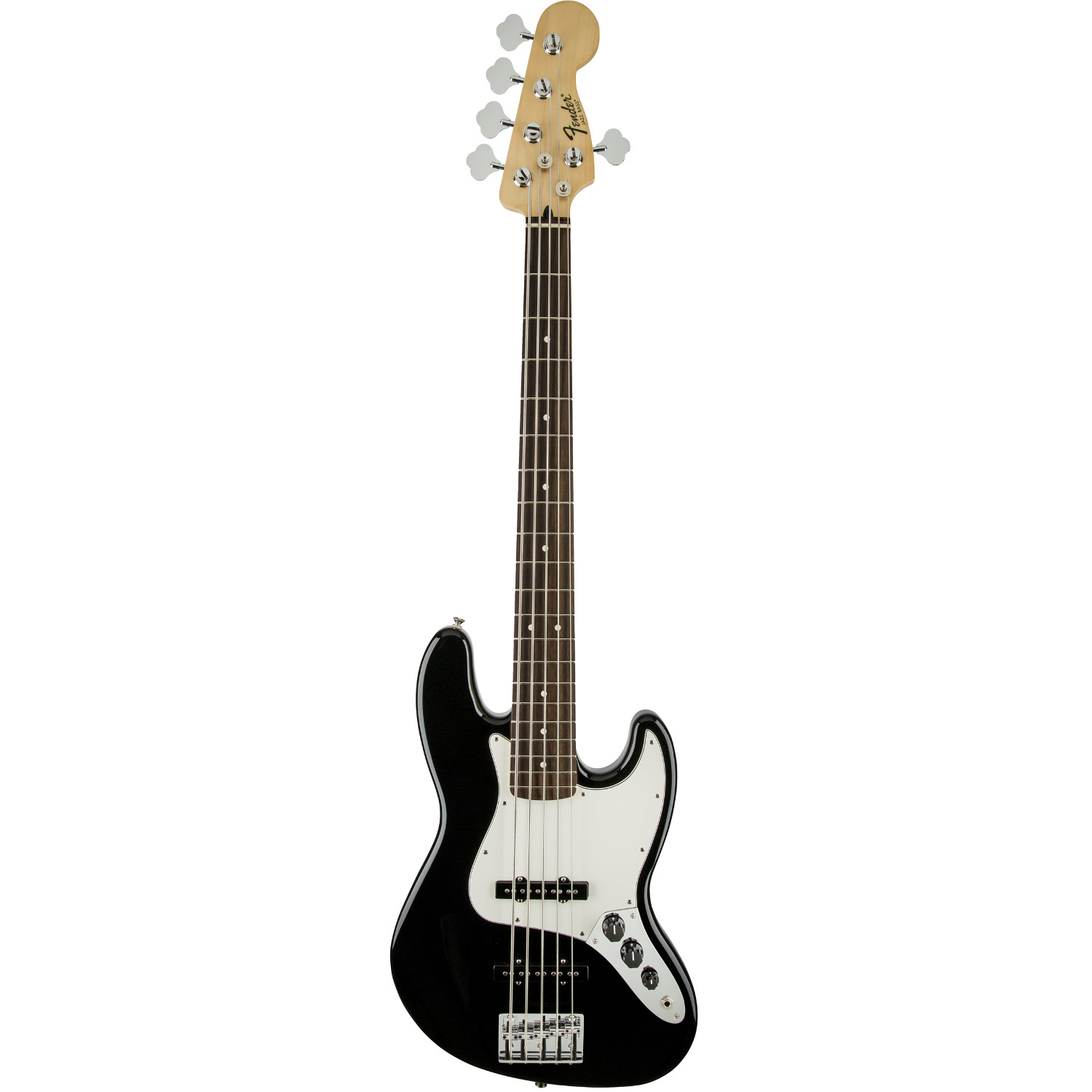 Fender Standard Jazz Bass V Black PF E Bass, 5 saitig