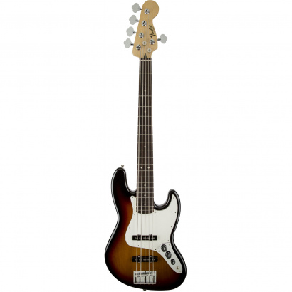 Fender Standard Jazz Bass V Brown Sunburst PF E-Bass, 5-saitig