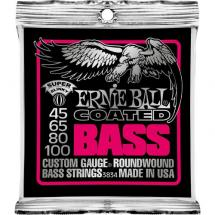 Ernie Ball 3834 Coated Bass Super Slinky Saitensatz für E-Bass, .045 - .100