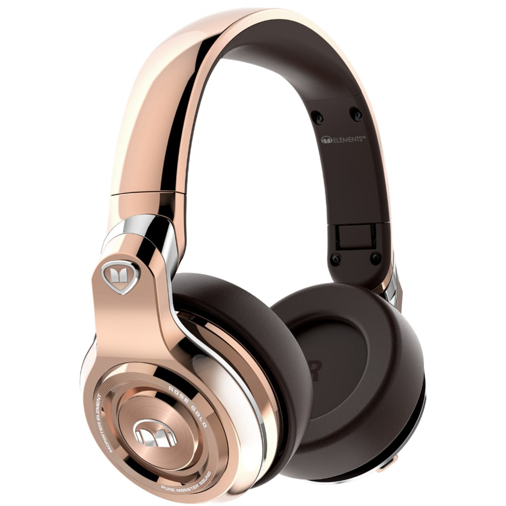 monster elements wireless rose gold over ear kopfh rer. Black Bedroom Furniture Sets. Home Design Ideas