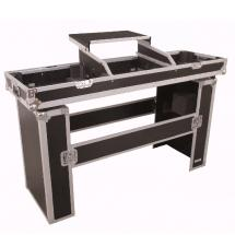 Omnitronic Console Road Table: Flightcase + DJ-Pult mit Laptop-Plateau