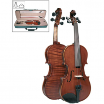 Leonardo LV-2044 4/4 violin with case, bow and rosin