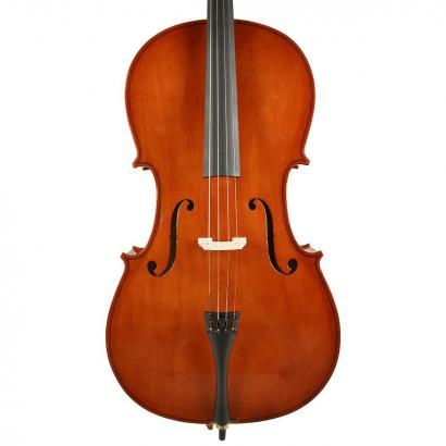 Leonardo LC-1044 4/4 cello with bow and carrying bag