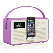 Ricatech View Quest Retro MKII portable radio, orchid