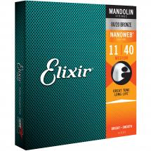 Elixir 11525 Mandolin 80/20 Bronze Nanoweb Medium 11-40