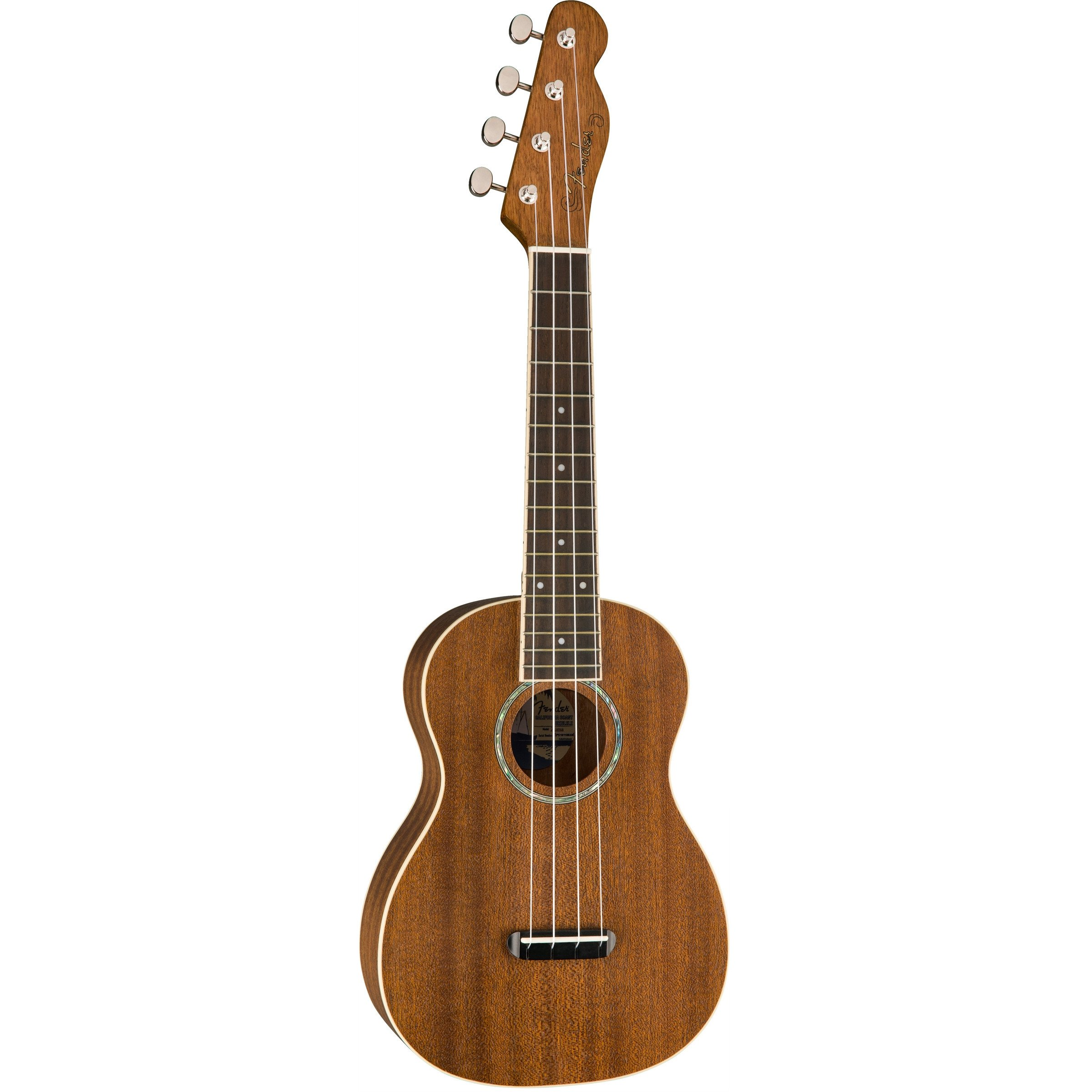 Fender California Coast Zuma concert ukulele, natural