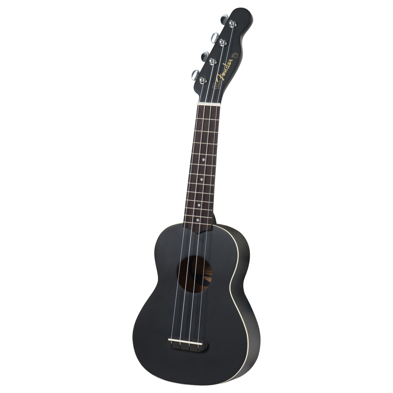 Fender California Coast Venice soprano ukulele, black