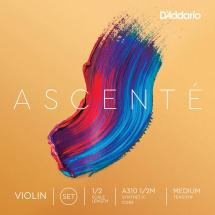 D'Addario Ascenté A310-12M 1/2 Medium violin string set