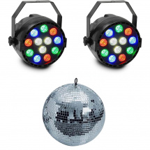 iDance partyset RGBW PARs with disco ball