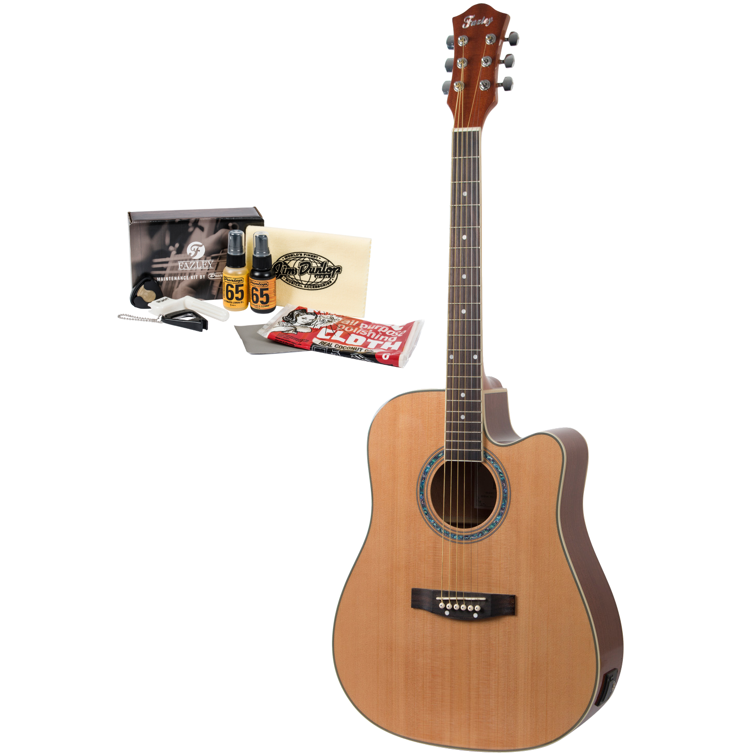 Fazley FE118CN GAFAZ1 guitar with maintenance kit