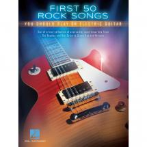 Hal Leonard - First 50 Rock Songs Electric Guitar