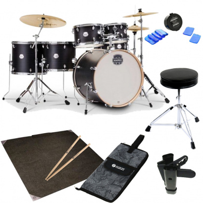 Mapex Storm Ebony Blue Grain drum kit