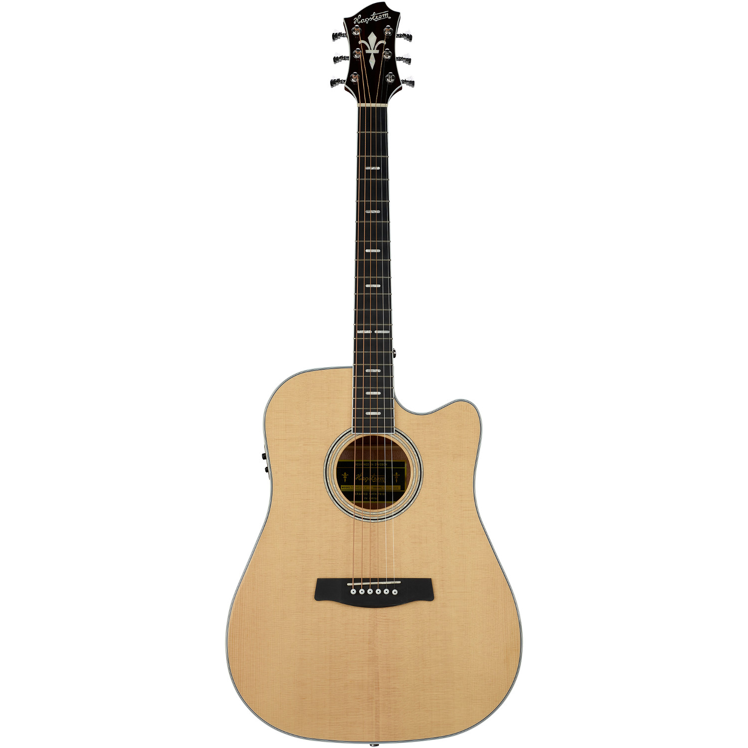 Hagstrom Siljan II Dreadnought CE Natural acoustic steel string guitar
