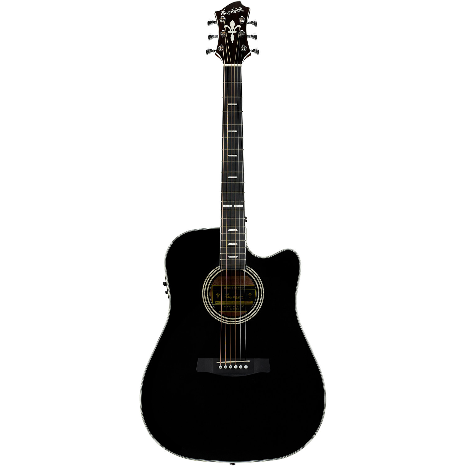 Hagstrom Siljan II Dreadnought CE Black Gloss acoustic steel string guitar