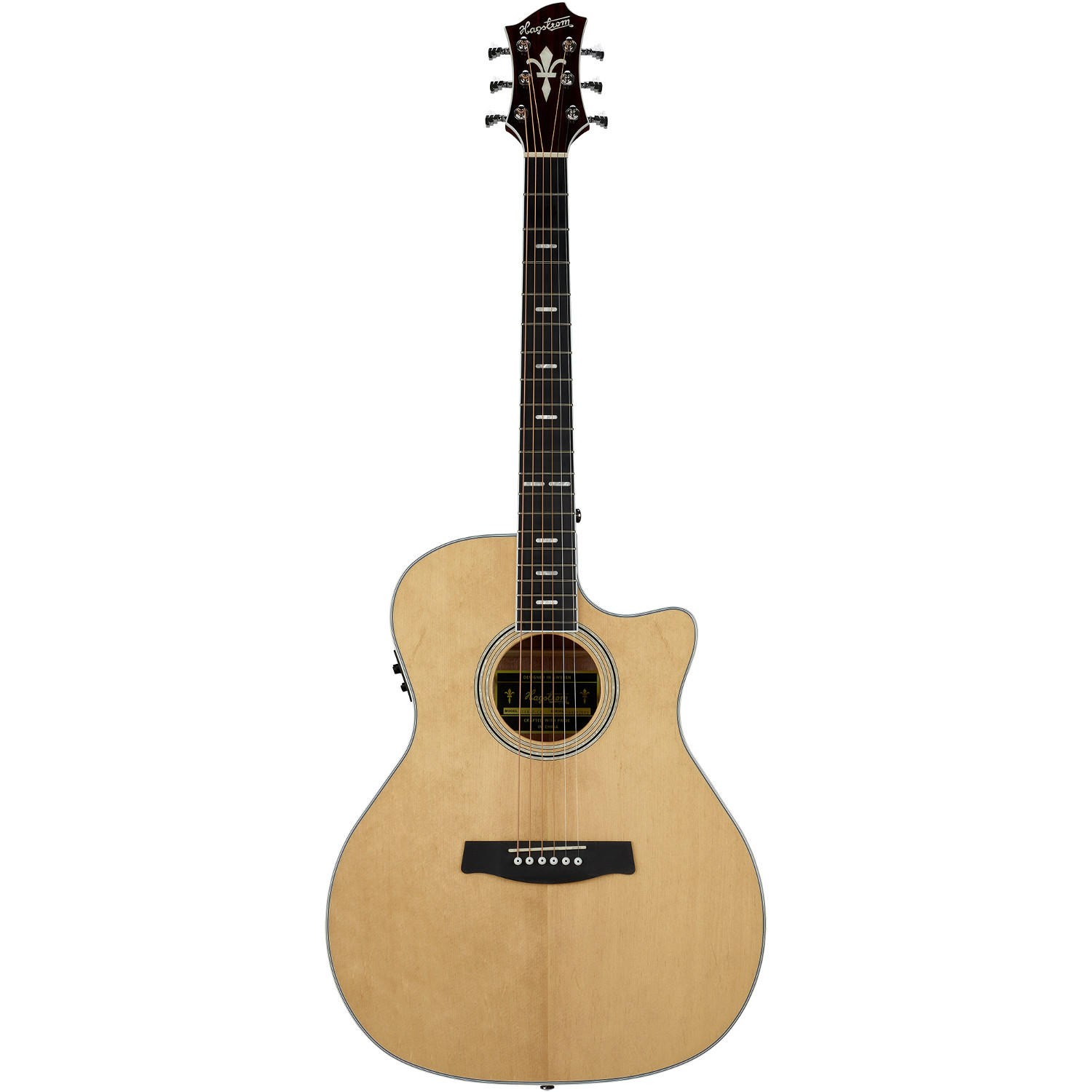 Hagstrom Siljan II Grand Auditorium CE Natural acoustic steel string guitar