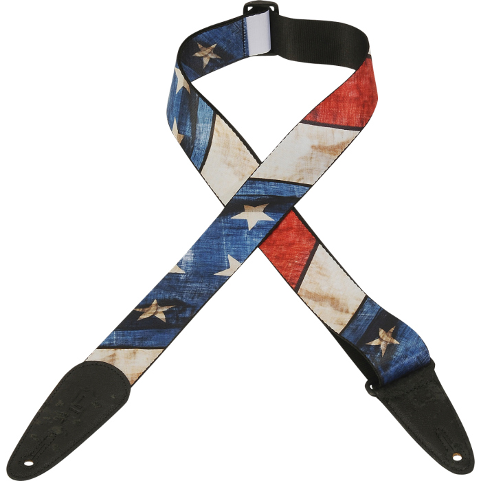 Levys Leathers MPD US guitar strap, Star Spangled Banner, polyester