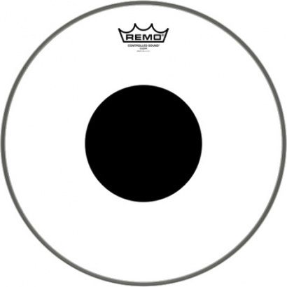 Remo CS-0314-10 Controlled Sound Clear Black Dot 14-inch