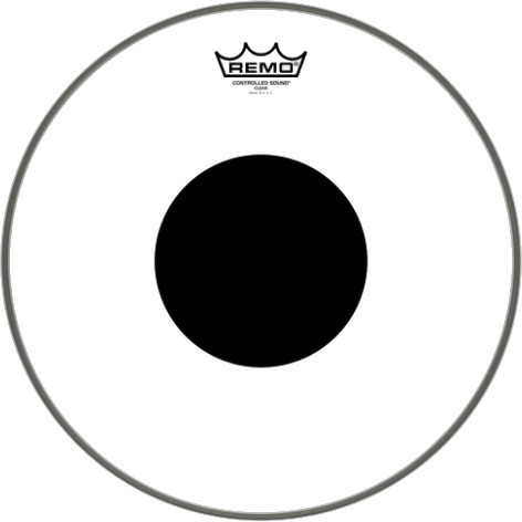 Remo CS 0316 10 Controlled Sound Clear Black Dot 16 inch
