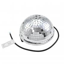 Eurolite half mirror ball 20cm with motor