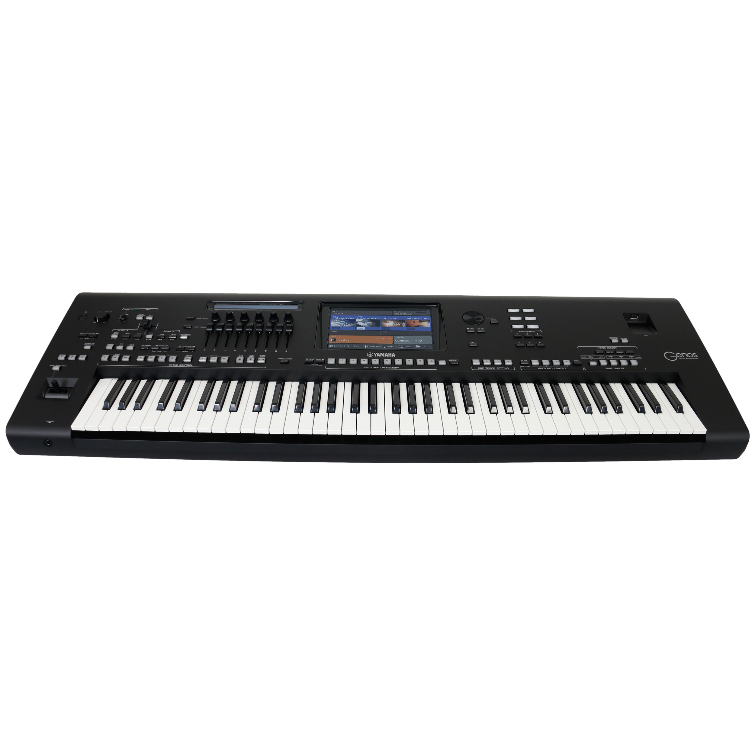 yamaha genos 76 note workstation keyboard kaufen bax shop. Black Bedroom Furniture Sets. Home Design Ideas